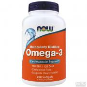 Now Omega-3 1000mg, 200 капсул
