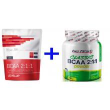 .Level Up BCAA Aminoblast (вкусовые), 500 + BeFirst BCAA 2:1:1, 200 г (-50% EXP: 02/2022)